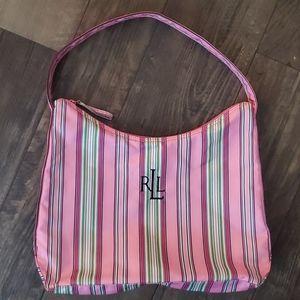 Lauren Ralph Lauren Striped Nylon Shoulder Bag